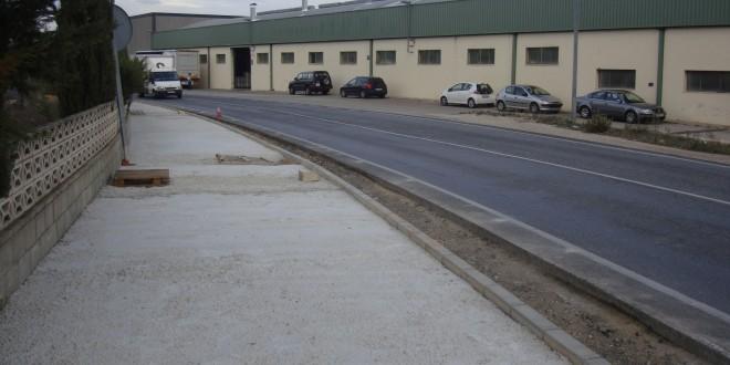 Avanzan las obras del acceso peatonal a L' Alcudia
