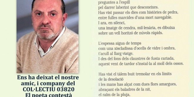 Fallece el Poeta Vicent Valls