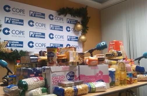 Cope Alcoy destina a Cáritas de Cocentaina su campaña de alimentos