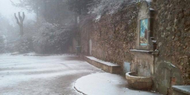 Visita de la nieve a la Comarca