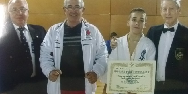 Hugo Cruz, campeón de España de Karate