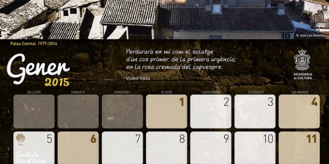 Disponible el calendario dedicado a Vicent Valls