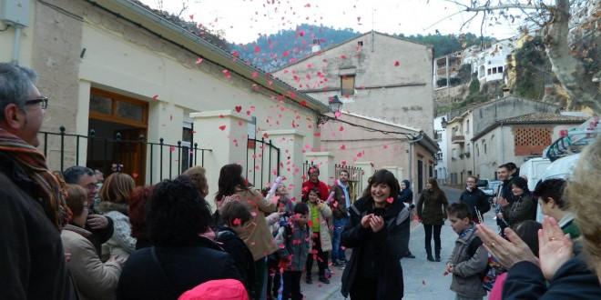 Los niños de Agres regresan al colegio El Teix