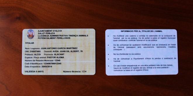 Nuevas tarjetas identificativas para perros
