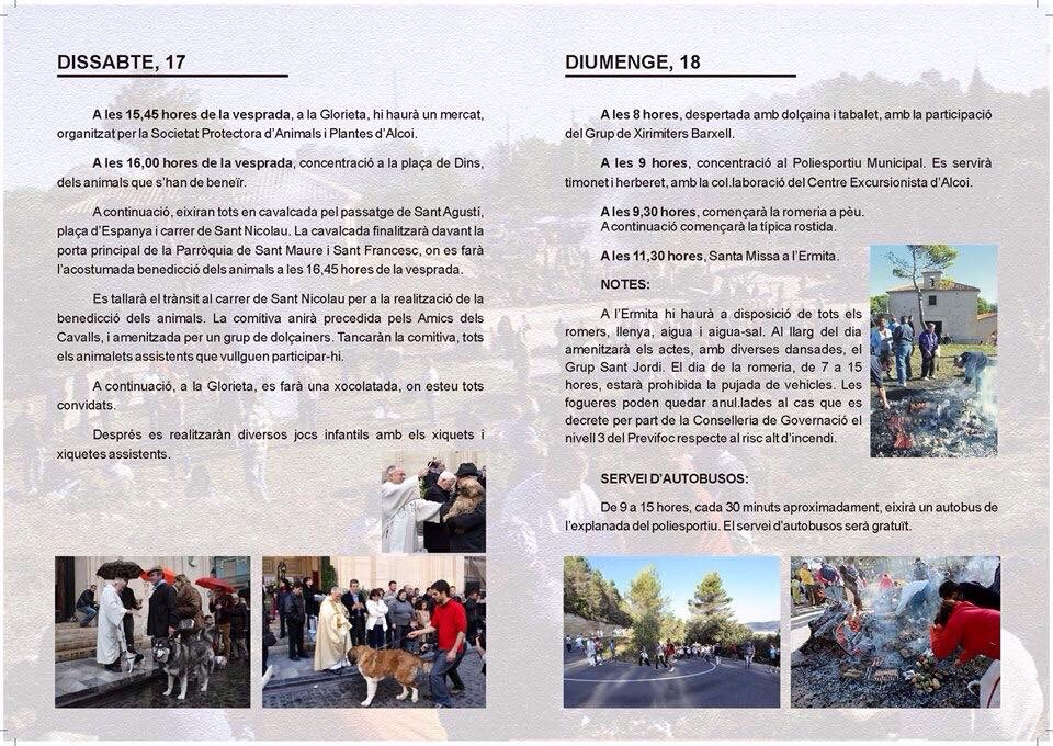 Programa Actos Sant Antoni Alcoi