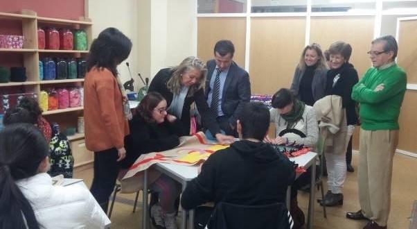 Rafa Miró visita los talleres de AIN