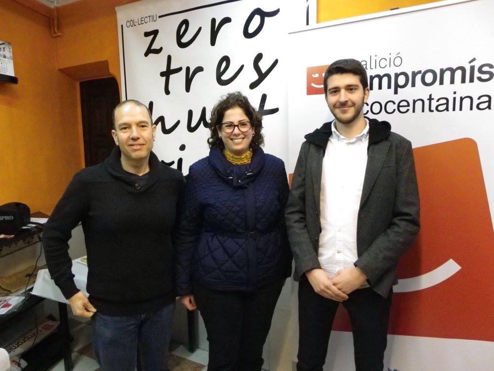Xavi Anduix, Esther Blanes y Jordi Pla