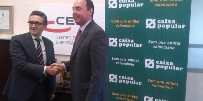 El CEEI firma un convenio con Caixa Popular