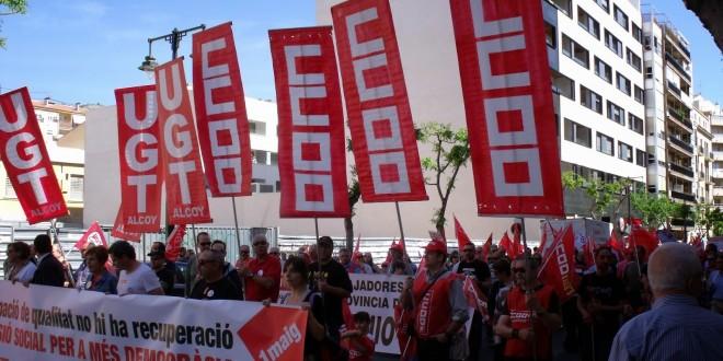 Los sindicatos saldrán a la calle el 1 de mayo