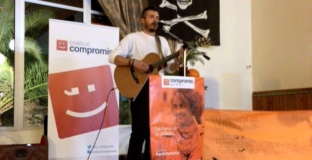 Música de Andreu Valor para el cierre de campaña de Compromís Muro