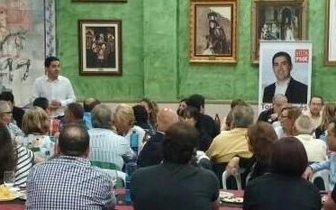 El PSOE de Alcoy cierra la campaña junto a afiliados y simpatizantes