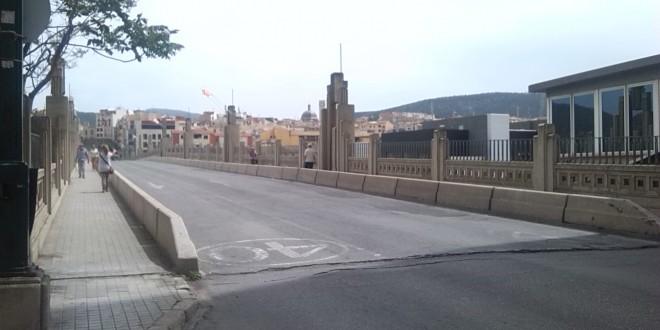 El Pont de Sant Jordi tendrá dos carriles tras la rehabilitación