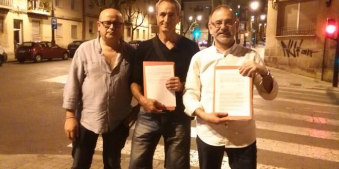 UPyD recoge firmas para evitar la supresión de plazas de aparcamiento gratuitas en el Ensanche
