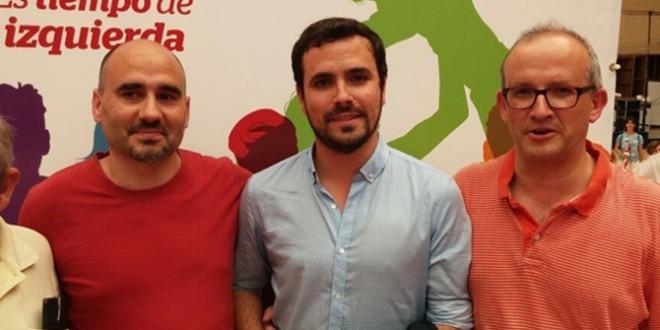 Paco Agulló acompañó en Alicante a Alberto Garzón