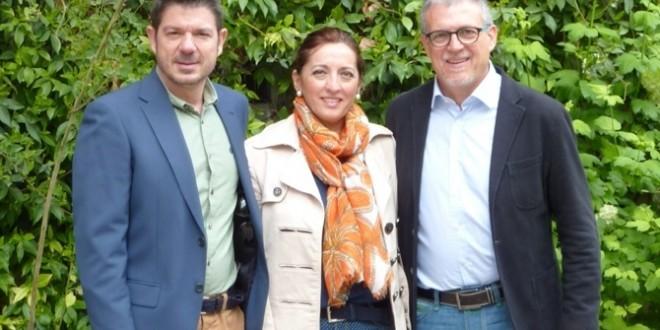 Mario Santacreu y Rosa García en un acto de Ciudadanos en Alicante