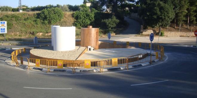 Nueva rotonda en la entrada de Cocentaina
