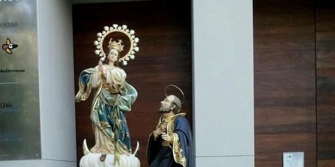 Descubrimiento cartel anunciador Virgen de los Lirios