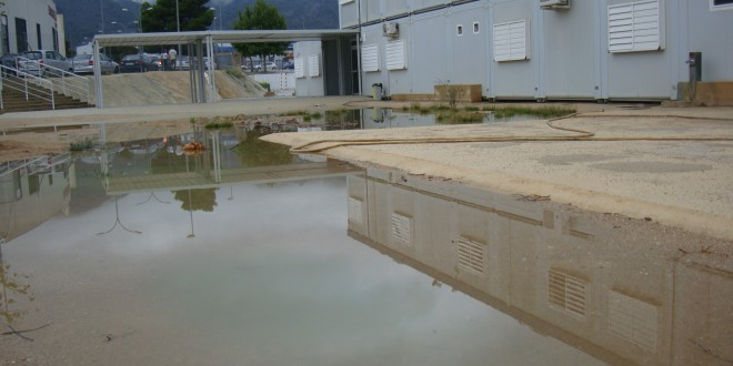La lluvia vuelve a inundar el Bracal de Muro