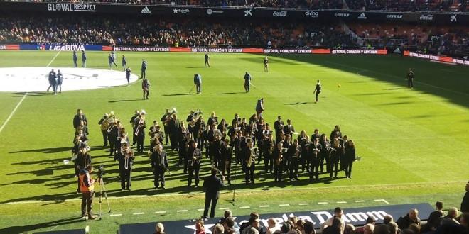 La banda de L´Orxa tomó Mestalla