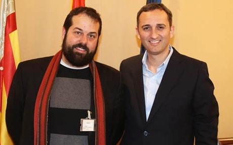 El Presidente de la Diputación recibe al alcalde de Muro