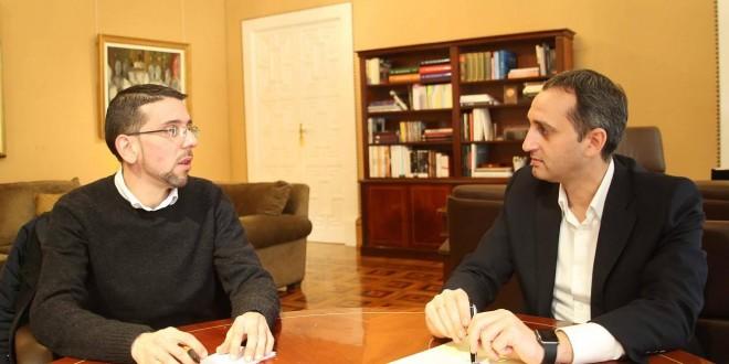 Reunión del Presidente de la Diputación con el alcalde de L´Orxa