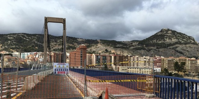 El puente Fernando Reig seguirá cortado el fin de semana