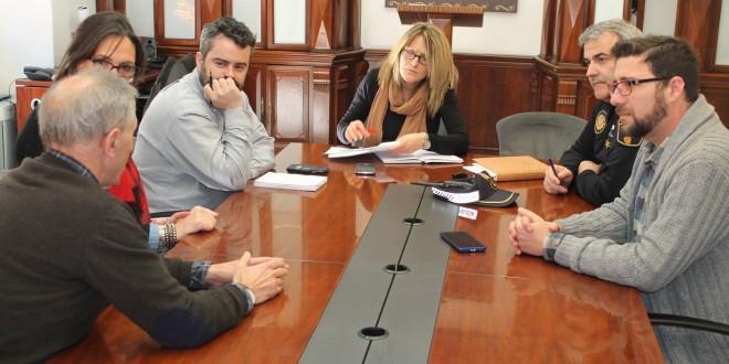 Reunión en Alcoy de los jefes de policía de la Comunidad Valenciana.