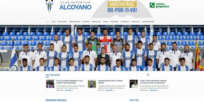 El Alcoyano estrena página web