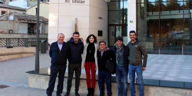 Visita a Cocentaina del seleccionador español de Ciclismo