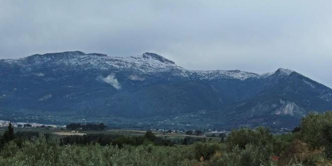 La nieve regresó a las cimas altas empezado el mes de abril