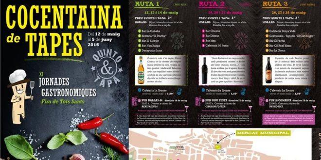 Cuatro rutas para disfrutar de la buena gastronomía en Cocentaina de Tapes