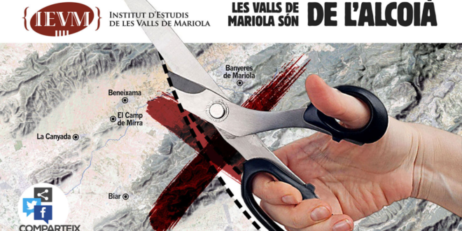 El IEVM reivindica Biar, Beneixama,  el Camp de Mirra y la Canyada como parte de l'Alcoià