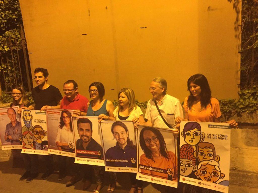 A la Valenciana pegó sus carteles en El Teix