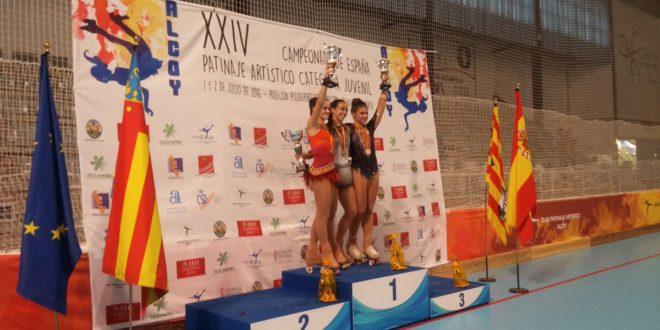 Andrea Silva y Sonia Pla suben al podio