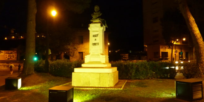 Nuevo alumbrado para el monumento de Cervantes