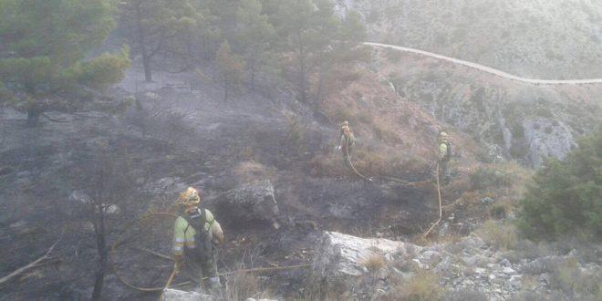 El incendio de La Serrella podría haber sido intencionado