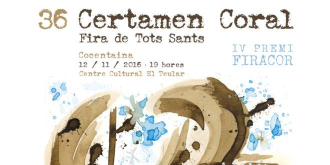 Moisés Gil crea el cartel del Certamen Coral Fira de Tots Sants