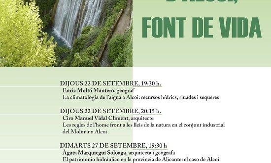 Ciclo de Conferencias: L´Aigua d´Alcoi, Font de Vida