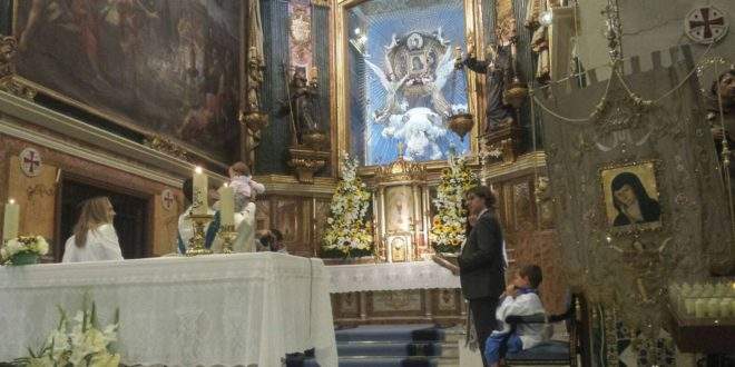 Cocentaina venera a la Mareta en el Mig Any de las fiestas patronales