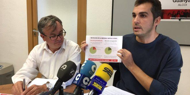 Guanyar Alcoi insiste en la viabilidad de municipalizar la recogida de residuos