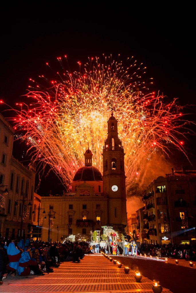Un espectacular castillo de fuegos artificiales ha acompañado el acto / Foto: PST Fotografía (Pau Sanchis Tarrazó)