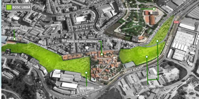 Guanyar Alcoi propone la creación de un bosque urbano