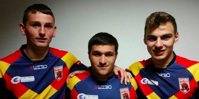Tres jugadores del Club de Rugby Muro, concentrados en la Selección Española