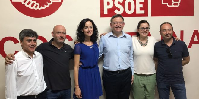 Ximo Puig mantuvo un encuentro con los socialistas de Cocentaina