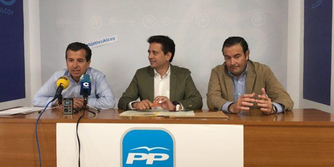 El PP lamenta la falta de inversiones del Consell en Alcoy y en la comarca
