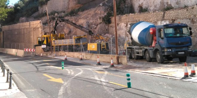 Guanyar Alcoi pide un mejor acabado para las obras del muro de La Beniata