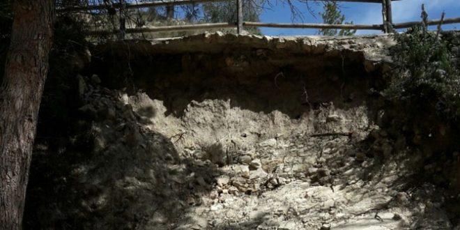 Guanyar vuelve a reclamar la reparación de los derrumbes de Serelles