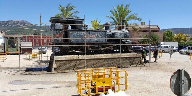Arranca la restauración de la locomotora del 'Xitxarra'