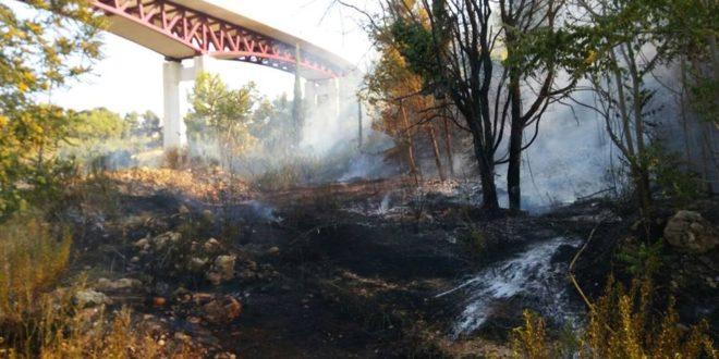 Sofocado un incendio debajo del puente Francisco Aura