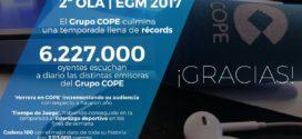 El Grupo COPE culmina una temporada llena de récords